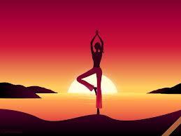 Yoga pose red