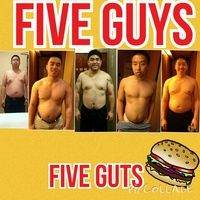 Five Guys Five Guts before and after